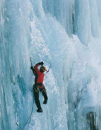 Ice climbing at Wye Creek&#160;-&#160;<i>Photo:&#160;Mark Sedon</i>
