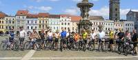 Group in Ceske Budejovice square, Czech Republic